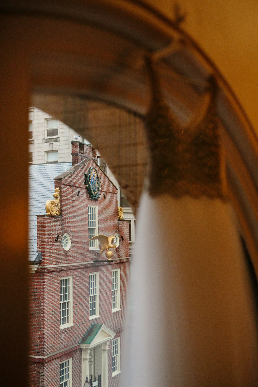 wedding dress and old south church