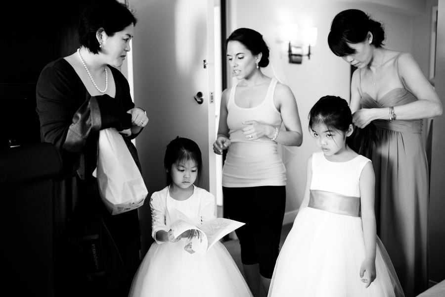 bridal party and kids