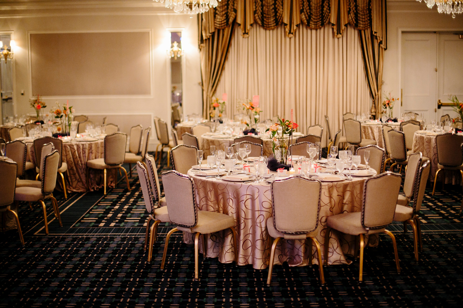 Interior wedding reception