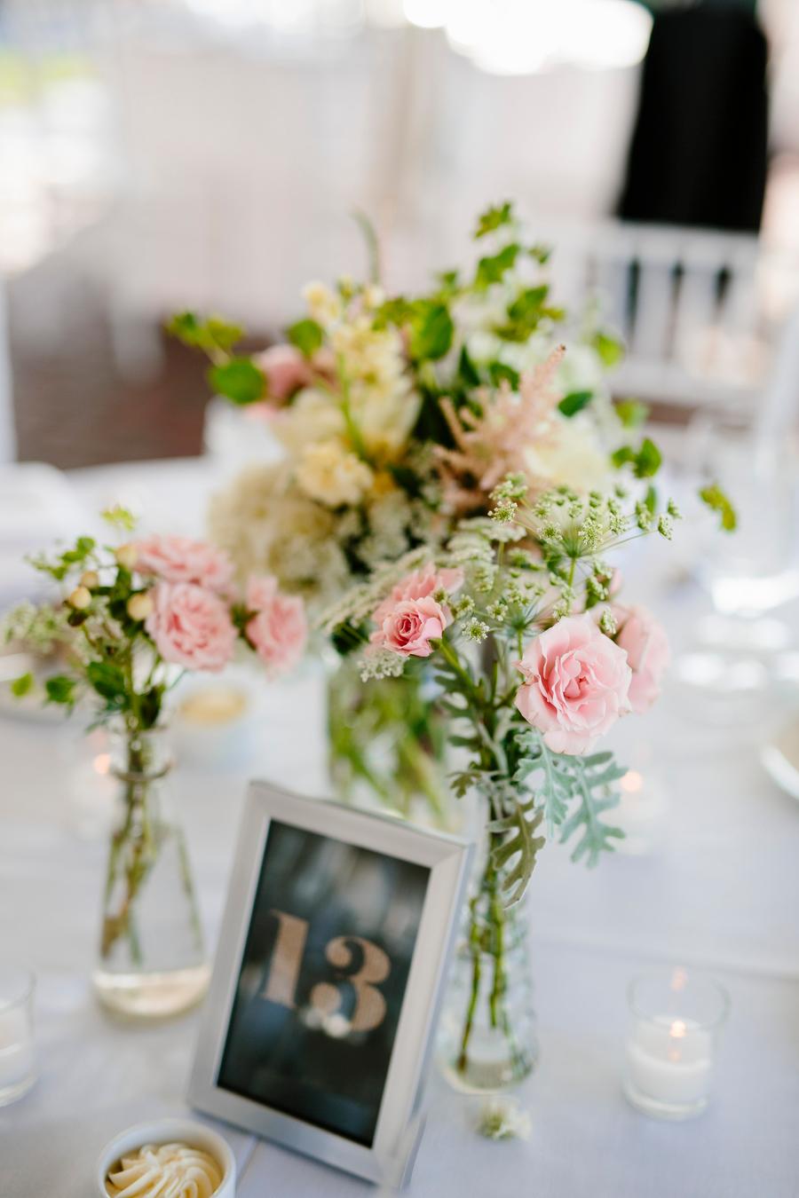 Wedding reception table detail
