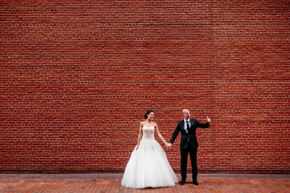 bride and groom portrait at the intercontinental