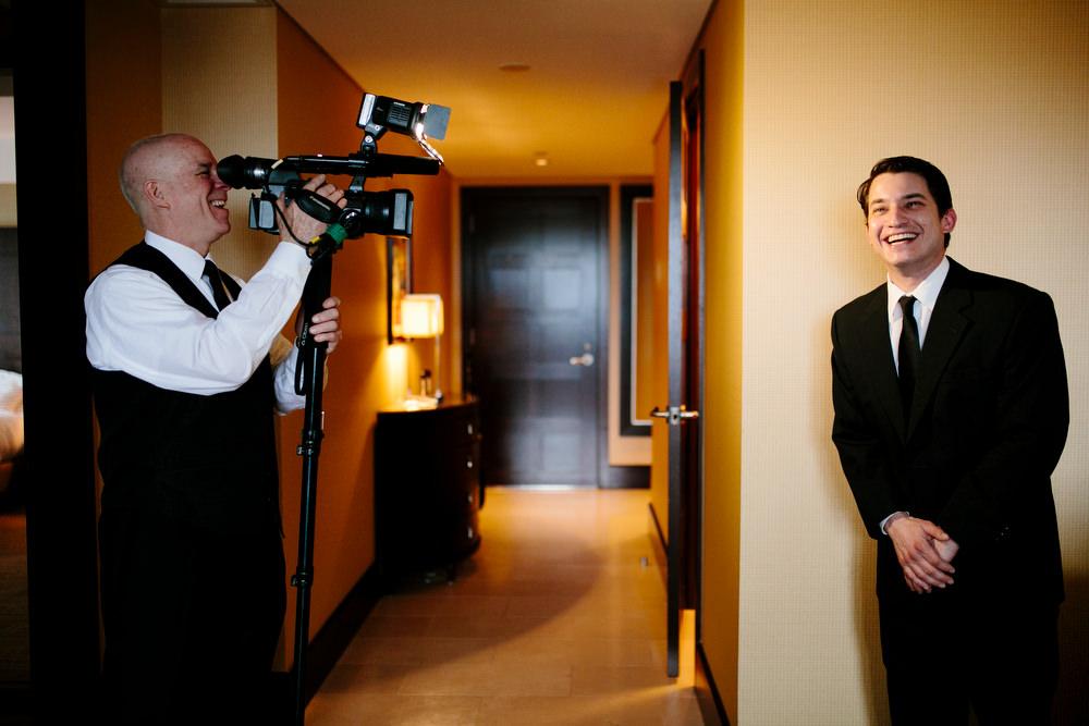 groomsmen interview from videographer