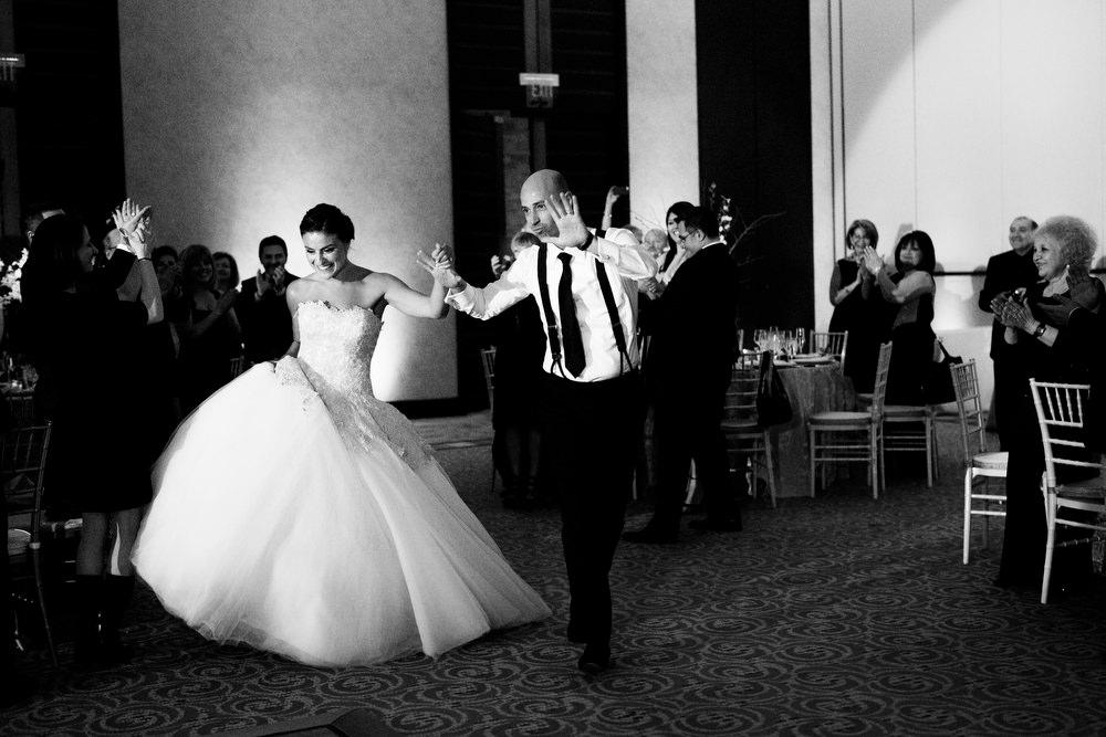 couple enters intercontinental ballroom