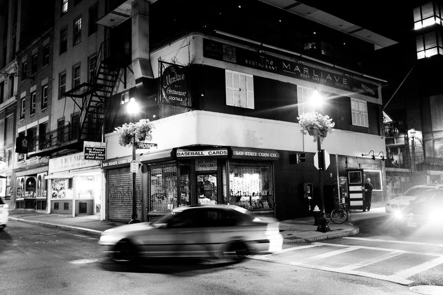 exterior black and white cars boston