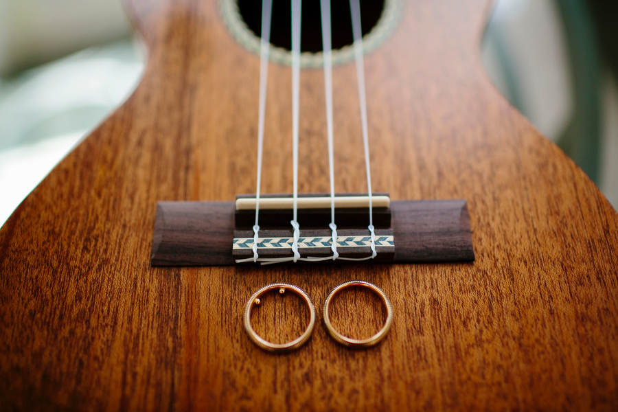 guitar and wedding rings