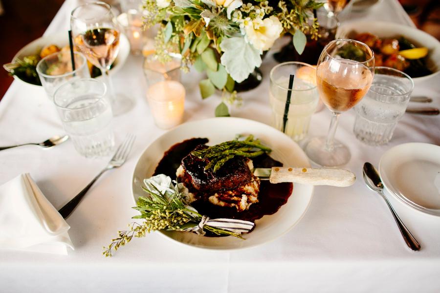 dinner plate detail