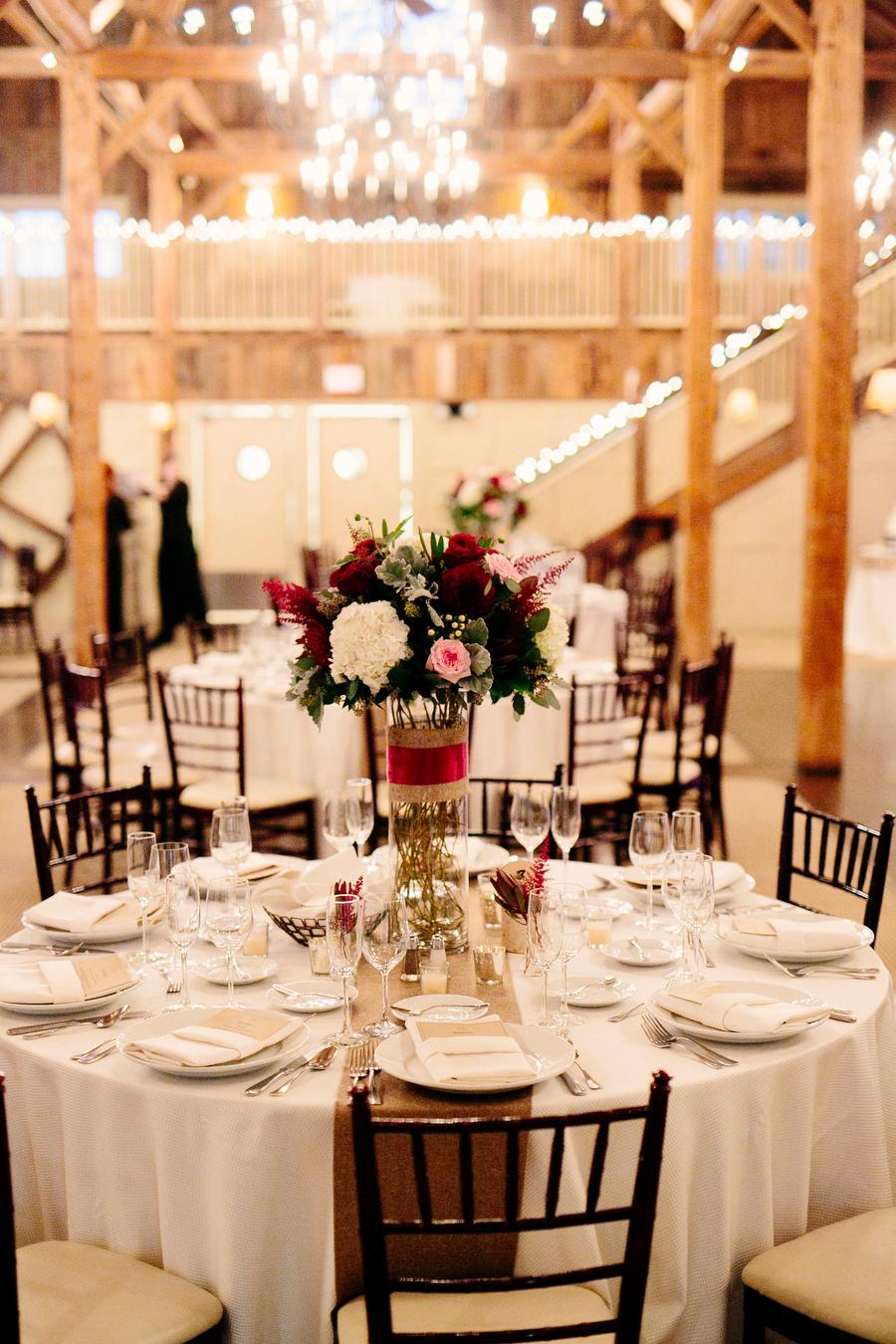 interior ballroom tables