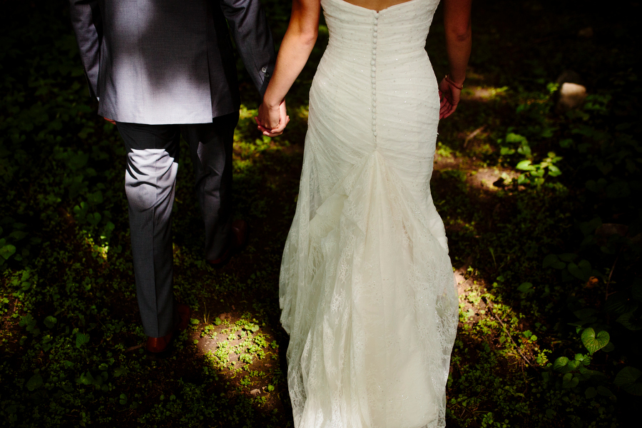 bride and groom at the smith barn