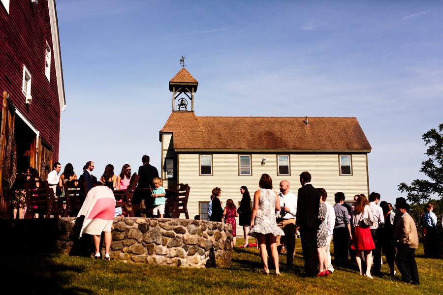 outside the barn wedding