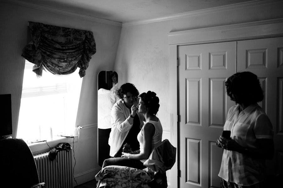 bride at the garrison inn