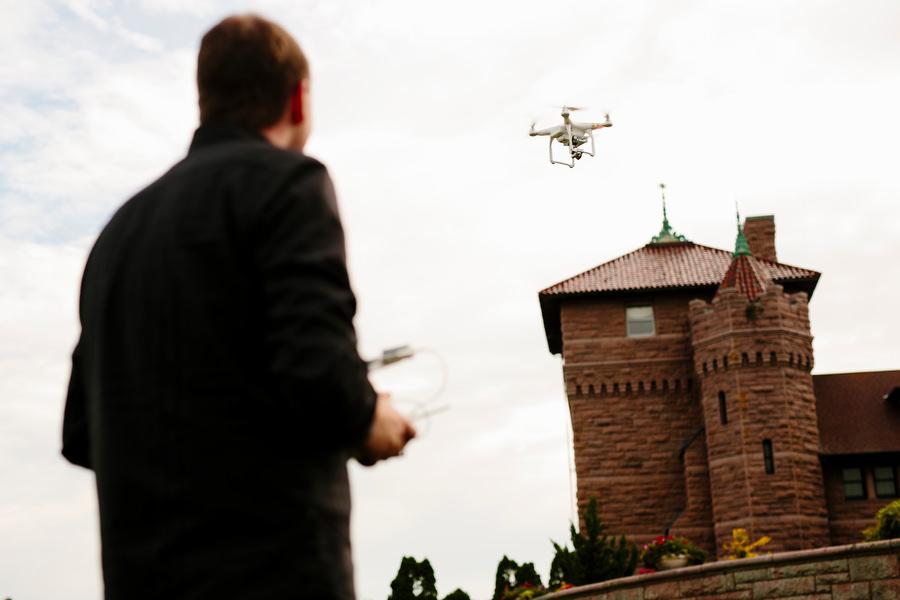 wedding day drone video
