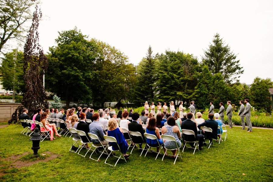 outdoor ceremony at the stawberry banke museum