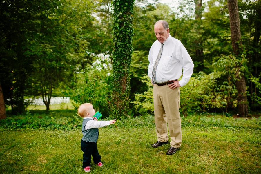 grandfather at wedding