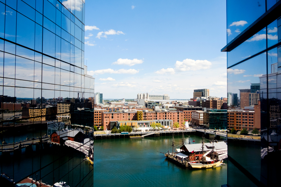 View from wedding at the intercontinental hotel boston
