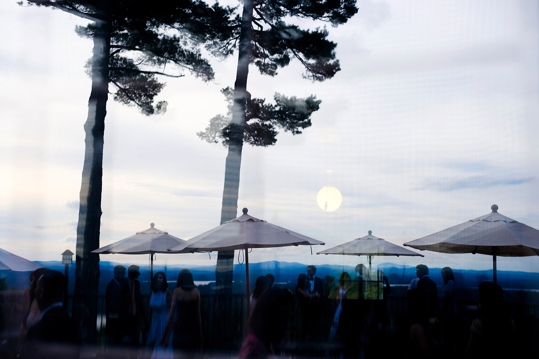 cocktail hour at castle in the clouds wedding