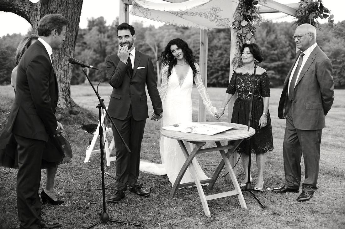 gedney farm wedding ceremony on the knoll in berkshires, western massachusetts