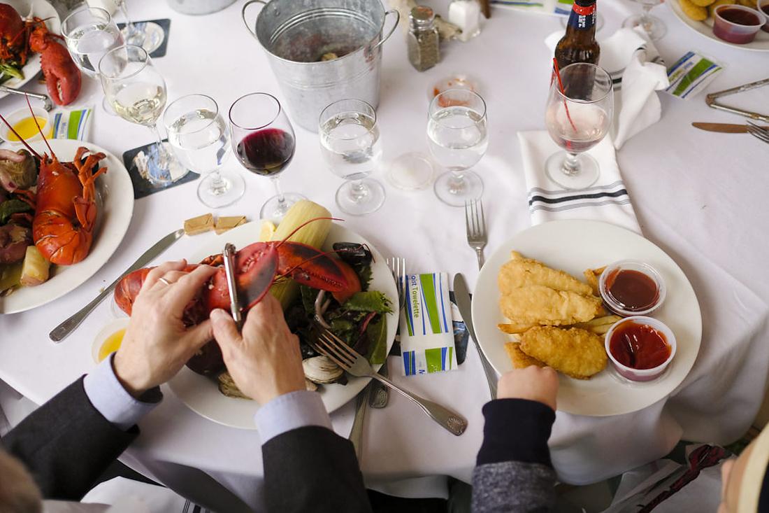 Lobster bake at wedding reception in Newport Rhode Island