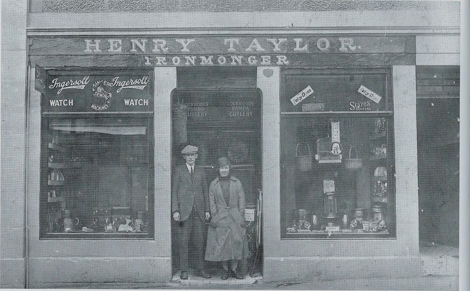 No.55 New St. a boot shop built in 1845. It was taken over in 1855 by Henry Taylor and is still an Iron Monger's shop today