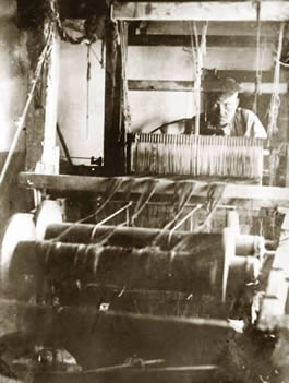 Handloom weaving - the occupation of Janet Jamieson's family