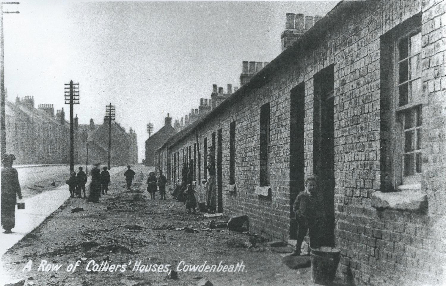 A typical Miners' Row, Cowdenbeath near Hill of Beath, Fife