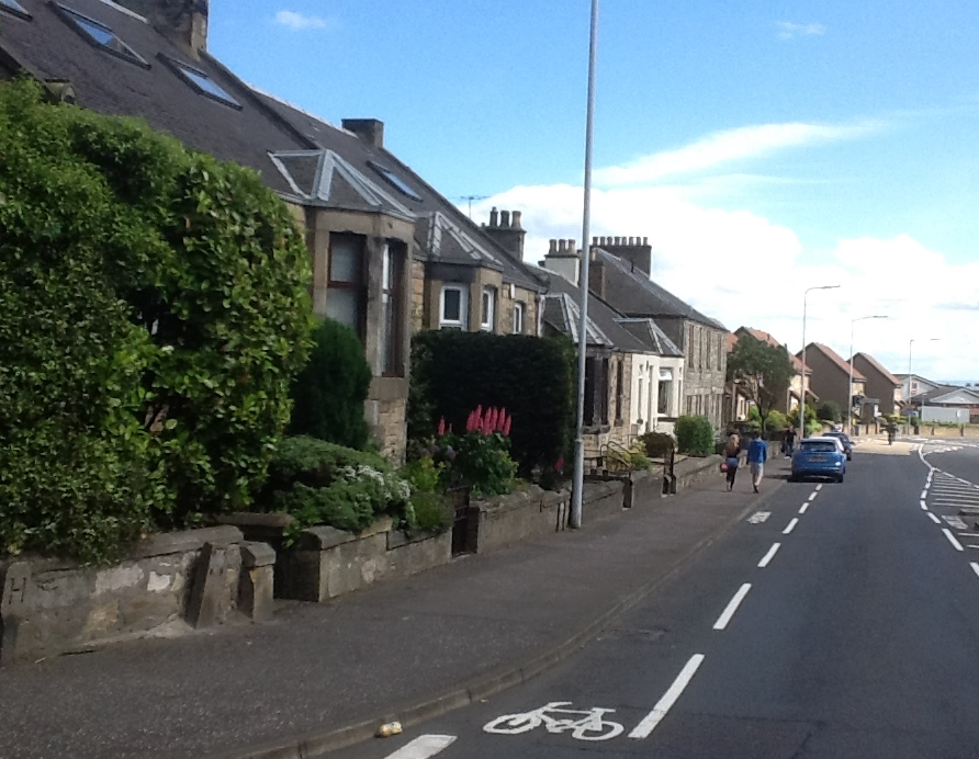Kirkcaldy today - the view down Overton Road