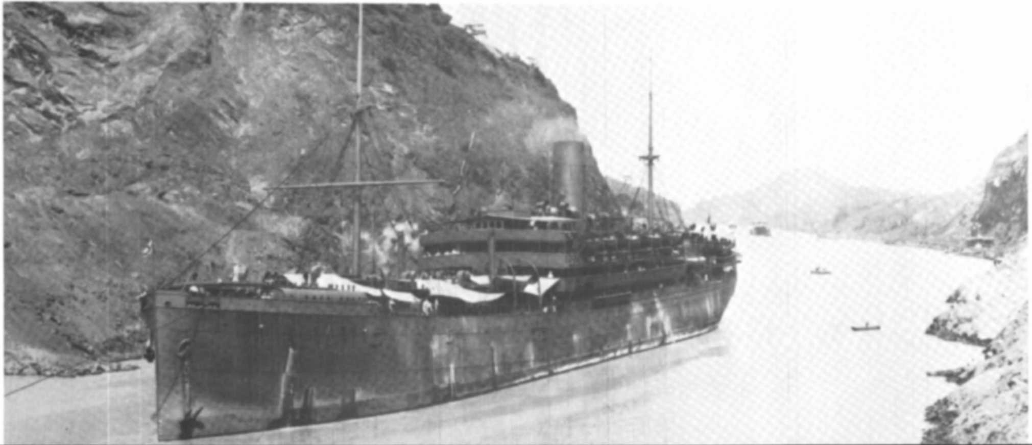 Margaret (Law) Gardner emigrated most probably on the  Remuera  steam ship, operated by the NZ Shipping Company Ltd, on 19 December 1912 from the Port of London with children, John, Robert, Thomas and daughter Margaret, listed separately. The route went via Tenerife (Canary Islands), Cape Town, Hobart then on to the NZ Ports. The Panama Canal had not yet opened and was used by other Shipping Lines from 1916.