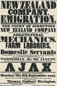 Early emigration advertising by the NZ Company
