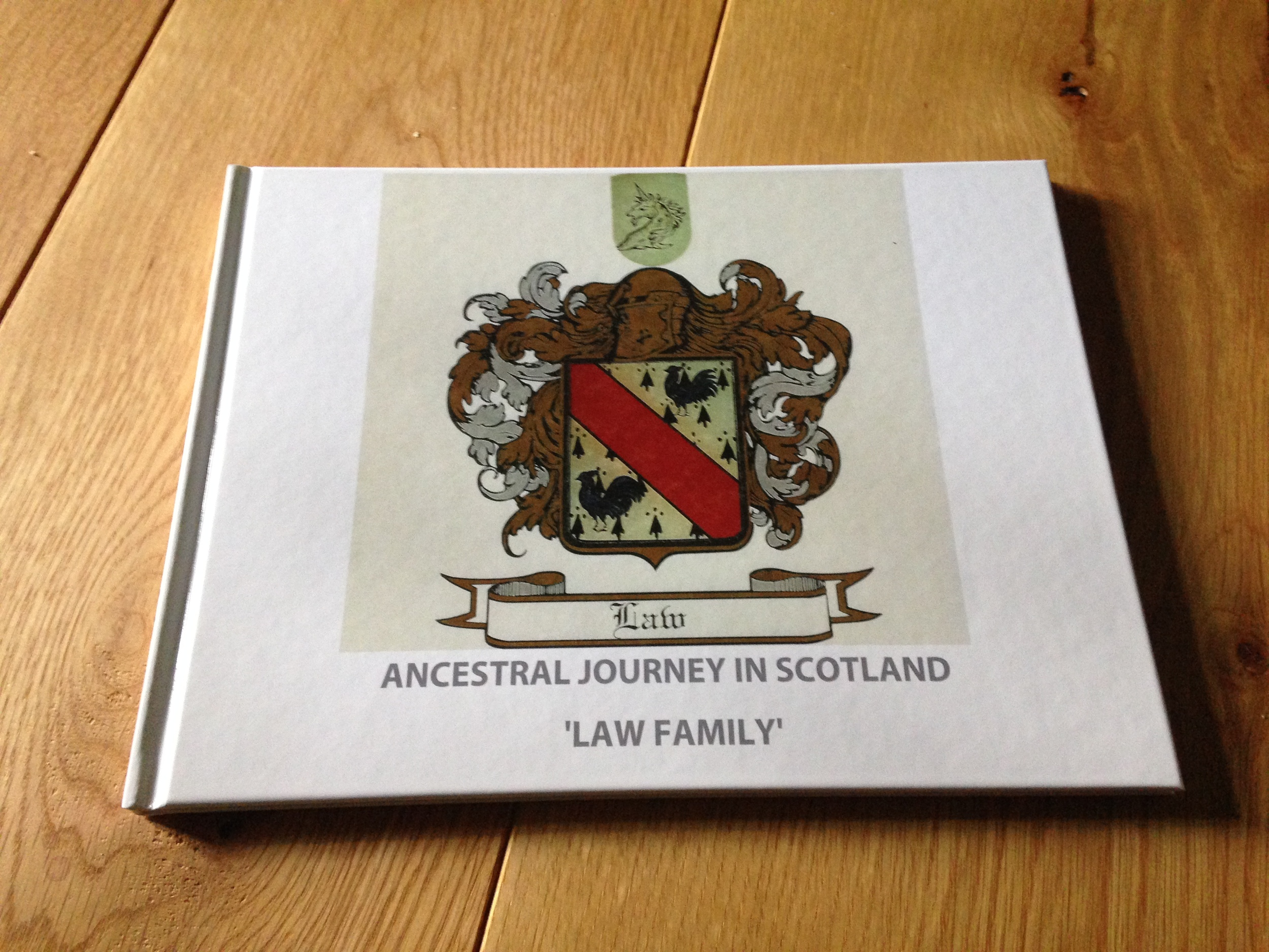 The Photobook of the above Ancestral Journey in Scotland 'Law Family'. Please  Contact  me if you wish to order a Copy.