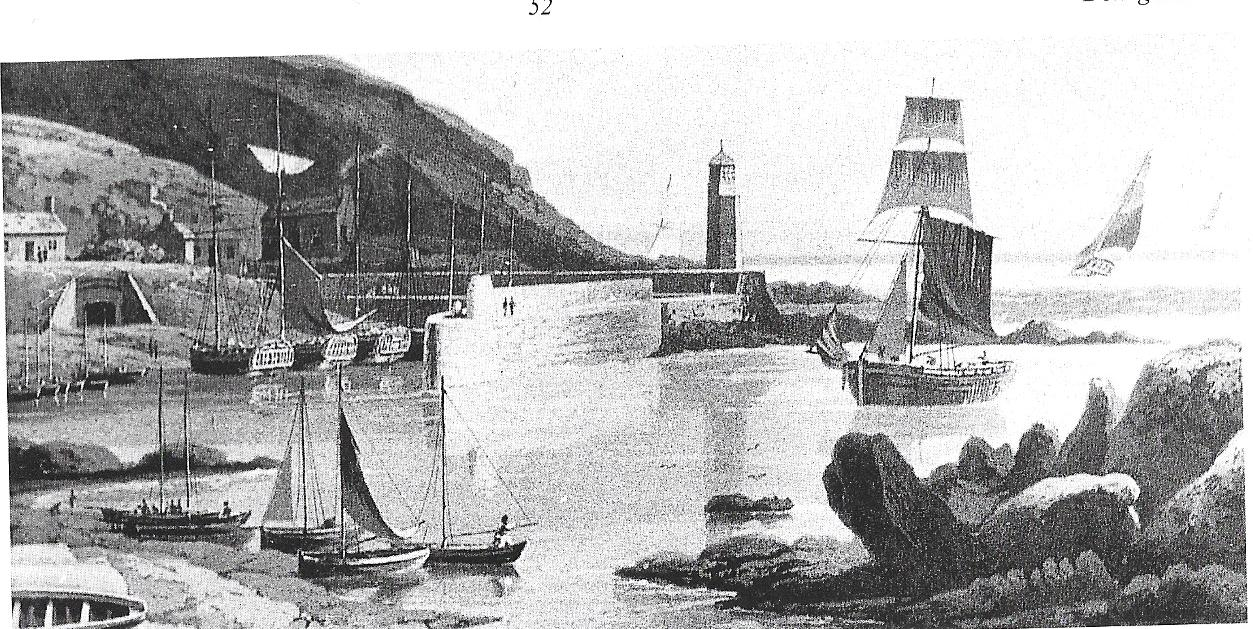 Port Patrick - Scotland ,Donaghadee's sister Port. The presence of cutters suggests this view predates 1825