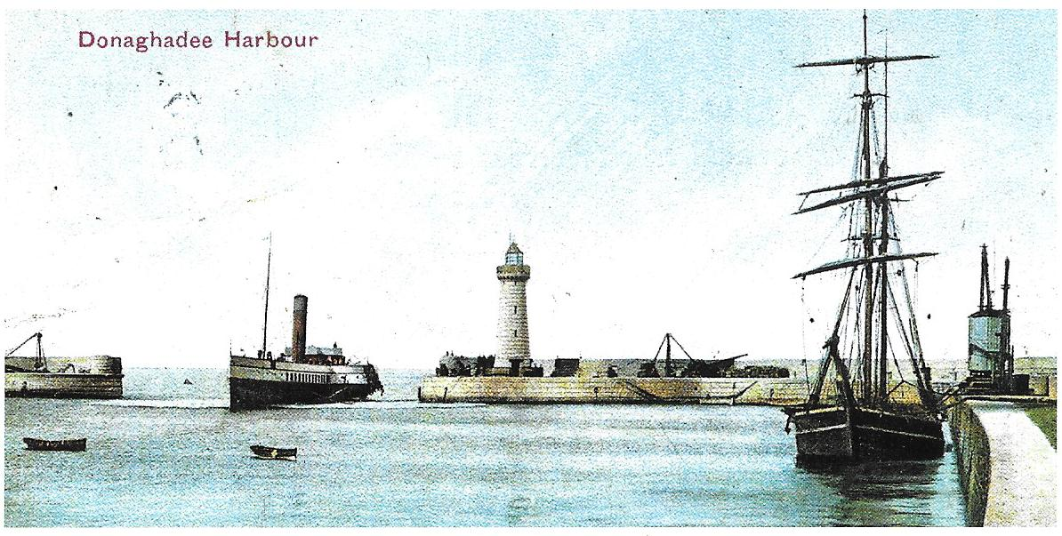 Donaghadee Harbour - County Down, Northern Ireland. After 1849 large steamers were rarely seen and the port's glory days were over.