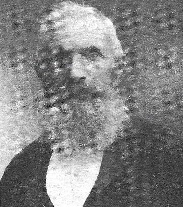 Robert Harcus, the man with the long white beard who lived in Moonlight, Macraes Flat, New Zealand. He left Eday, Orkney in 1874.