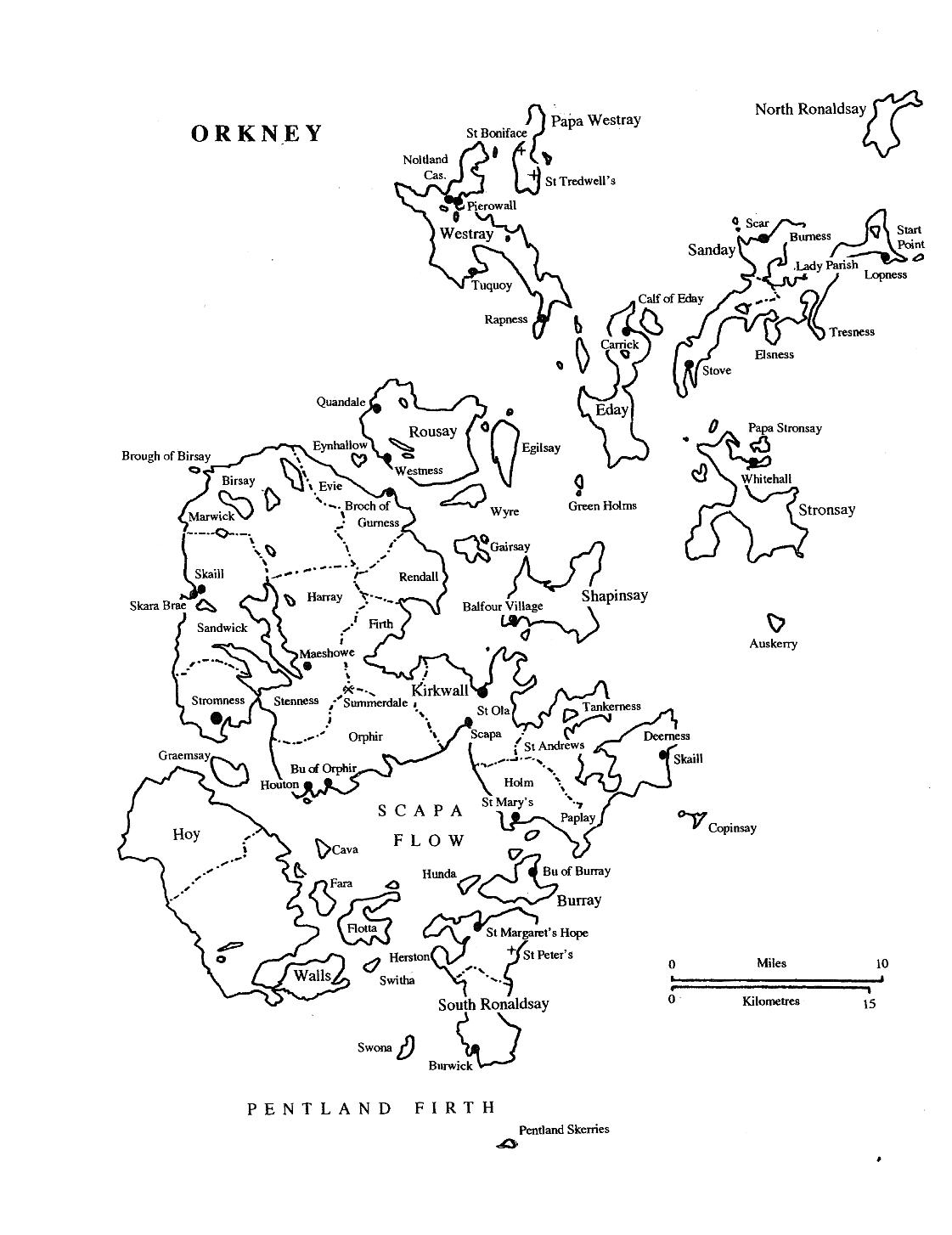 The  Orkney Isles. Eday lies in the centre of the Northern Isles. Between Westray and Stronsay and north of Shapinsay. The Ferry to many island including Eday leaves from Kirkwall, the main transport hub.