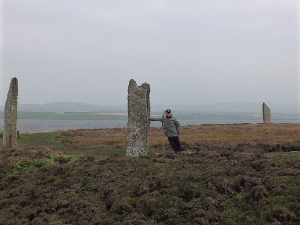 The Ring of Brodgar, a neolithic henge and circle of standing stones about 6 miles NE of Stromness on the Mainland, the largest island of Orkney. It is probably the finest known, truly circular, late neolithic or early bronze age stone ring.