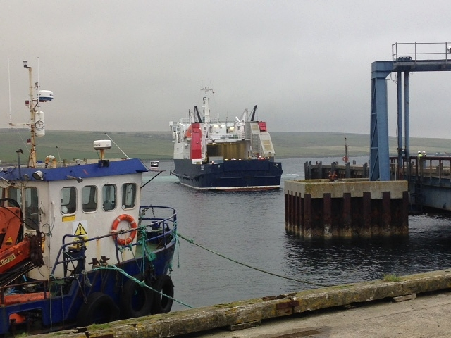 Ferry from Bay of Backaland, Eday to Kirkwall on the Mainland.