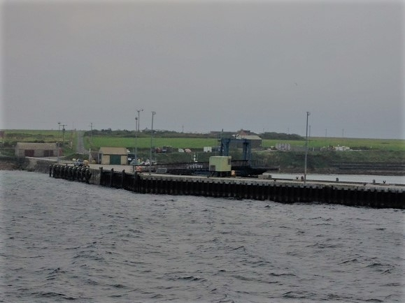 Bay of Backaland, Eday from the Ferry. Harcus ancestors lived in the Southeast in the 1840's (Skaill, Backaland, Veness), not far from the Bay of Backaland and then Gutterhole and Parkhead on the West side district of the island.