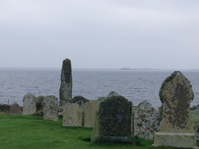 The Old Kirkyard (burial ground) at Skaill, Eday where Robert Harcus's mother Jane Reid is buried.