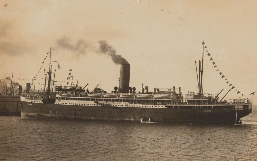 James Harcus was returned, invalided home to Dunedin, NZ on the  SS Willochra  troopship, arriving on 30 October 1915.  Google image