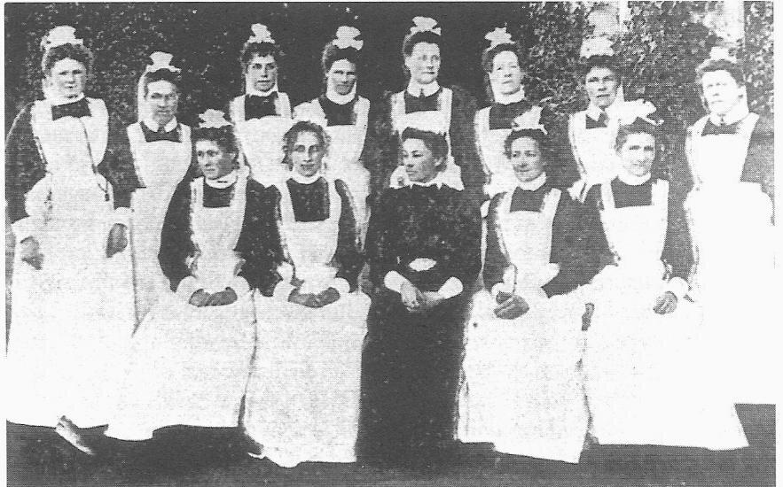 Seacliff Nurses in 1900.  Hocken Library Dunedin