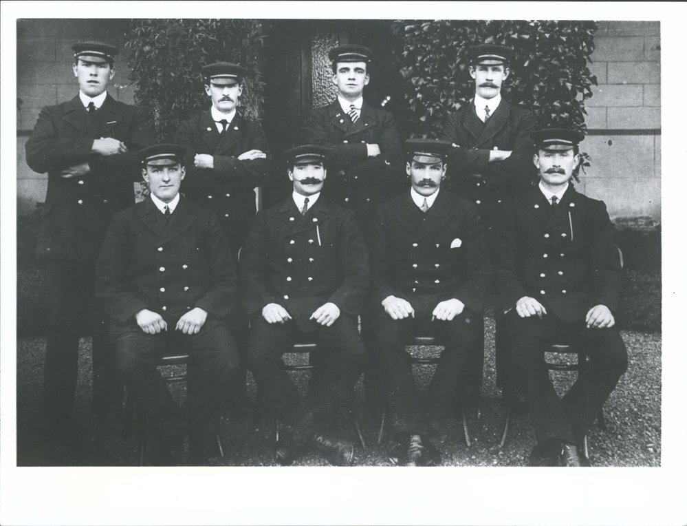 Seacliff male attendants.  Hocken Library Dunedin