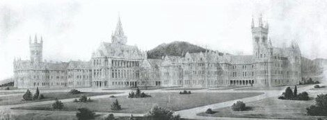 Seacliff Mental Asylum was NZ's largest Mental Asylum and sometimes referred to as a 'fantasy castle' due to its towers and turrets on every corner.  Hocken Library Dunedin