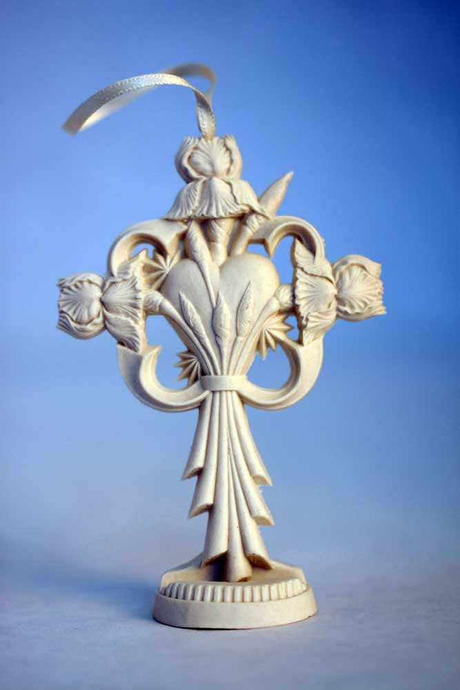 Restores My Soul Gift Ornament by Pure Grace displayed on optional porcelain stand.