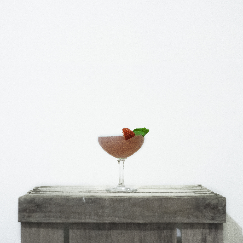 Strawberry + Basil Bramble