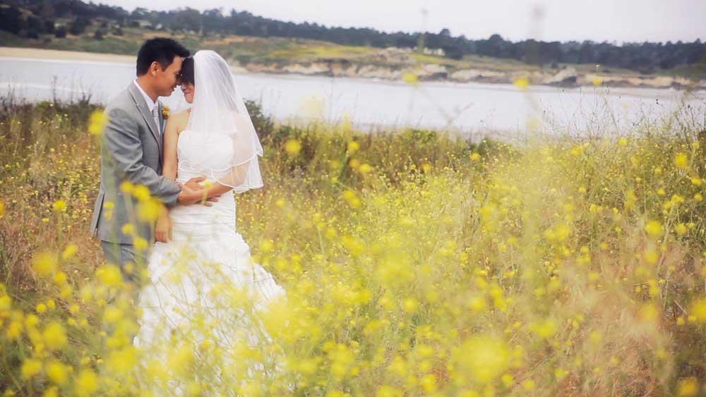 Carmel Wedding - Bride & Groom