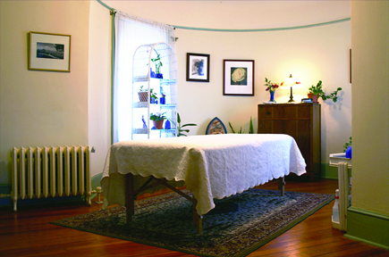 Massage room in the turret