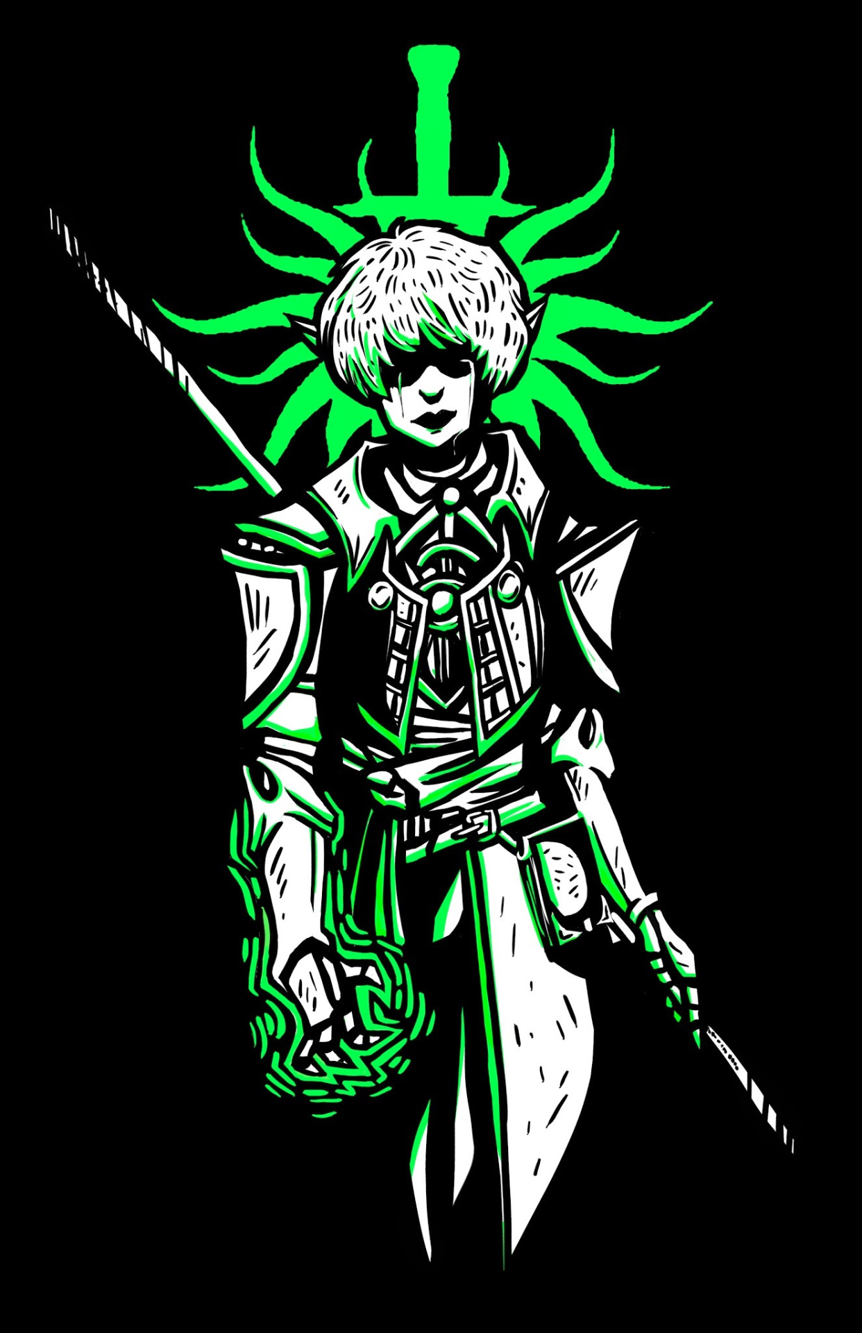 Fan art for the game Dragon Age: Inquisition.