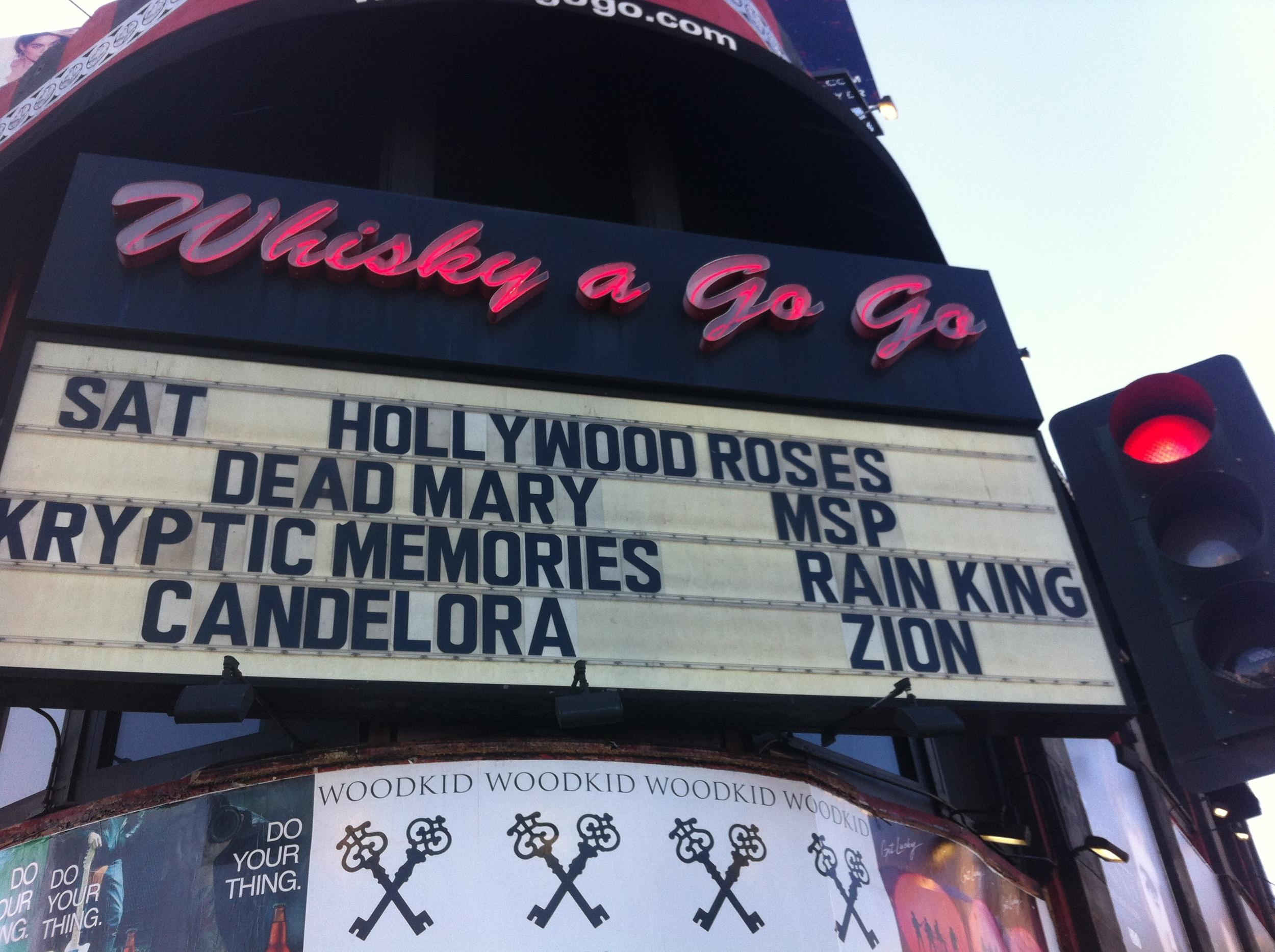 Whiskey a GoGo, Hollywood