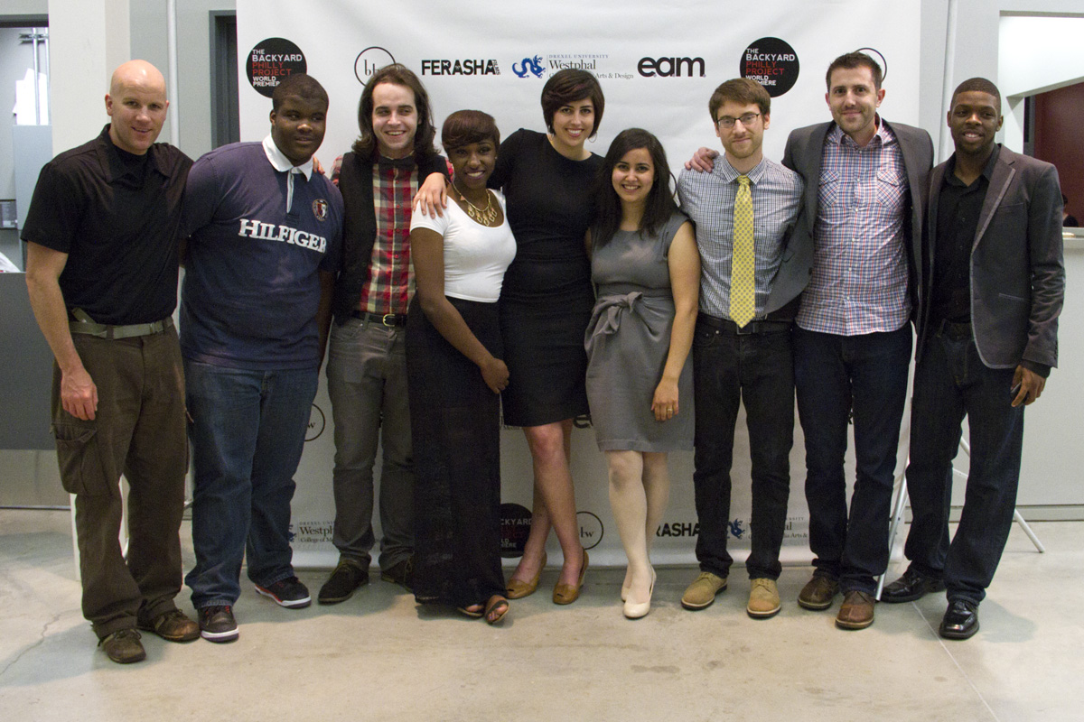 The Backyard Philly Project crew at the World Premiere event at Drexel University.