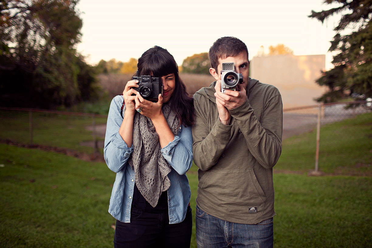 Nienke Izurieta, Assistant Director pictured with Bruce Kite, Cinematographer of The Backyard Philly Project.