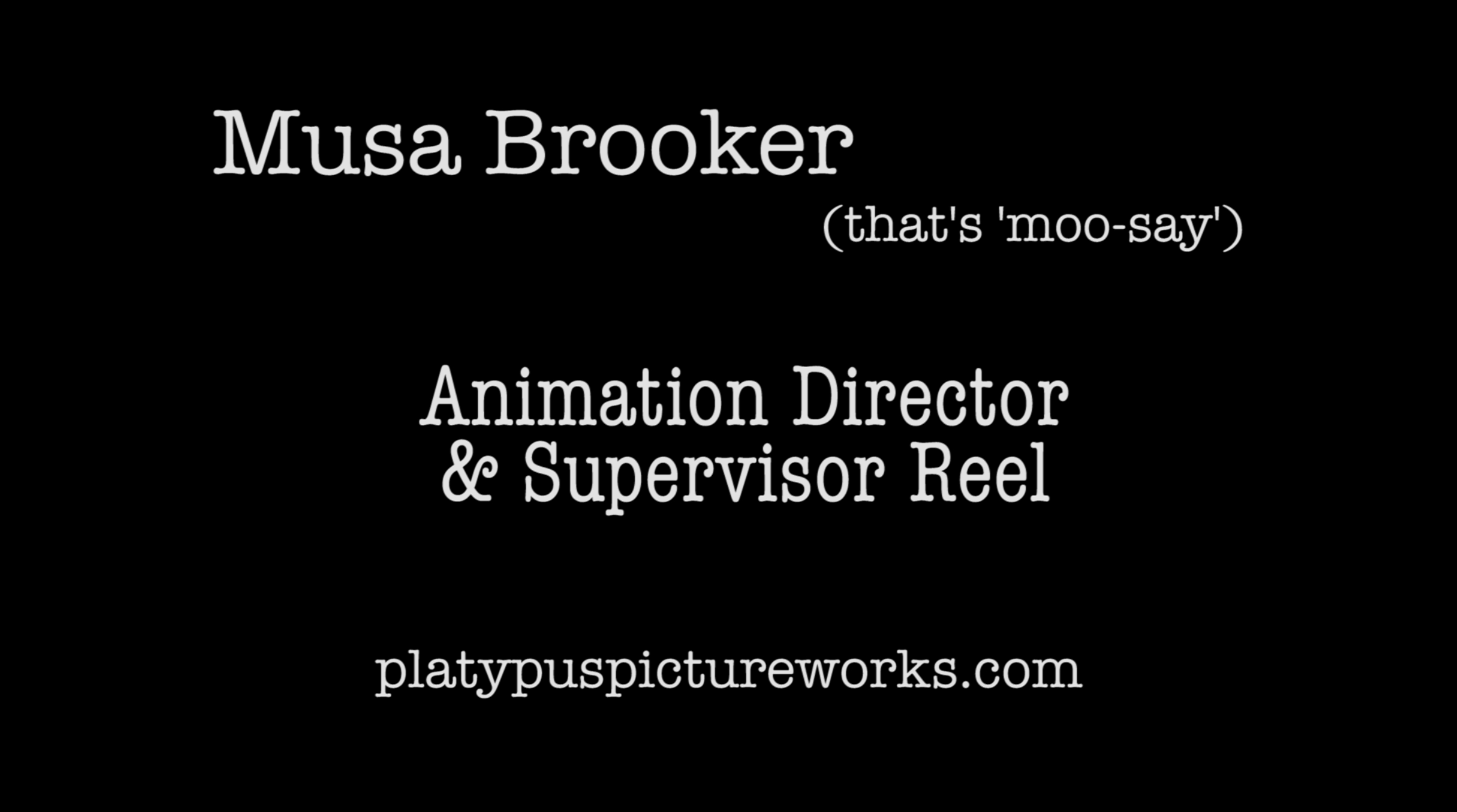 Animation Director/Supervisor Reel