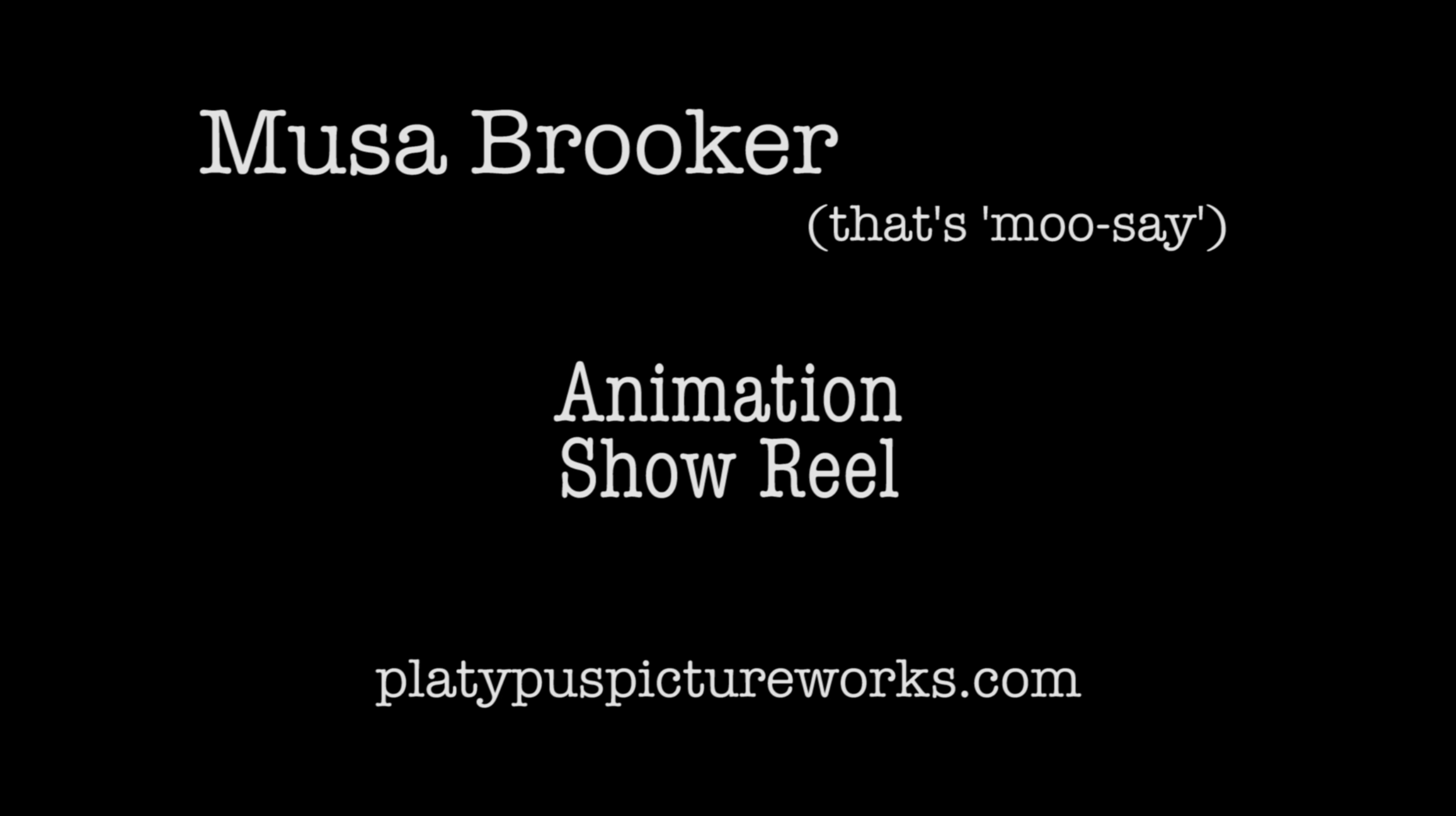 General Animation Show Reel